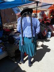 Bolivian woman (magellano) Tags: tarabuco bolivia donna mujer woman vestito tradizionale trditional dress costume strada street candid mercato market mercado capelli hair trecce long