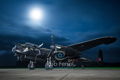 5072_Lancaster (Rob Ferrol) Tags: lancaster bomber aircraft historic iconic heavy wwii world war two royal air force raf command east kirkby lincolnshire airfield night moody atmospheric evening dusk rob ferrol copyright photographer worksop notts nottinghamshire merlin engines four restoration period bird