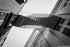 Twister Stairway (Kieran Williams Photography) Tags: colour color composition comment canon camera contrast cold colors colours city angle architecture abstract view viewpoint photo photography perspective priority light like life landscape lens lights low london lines leadinglines sky speed shutter shadow saturate silhouette skyline black blackandwhite white gradient monochrome