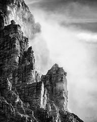 Awakening... (Ody on the mount) Tags: berge dolomiten felsen himmel italien sdtirol urlaub wolken bw monochrome sw