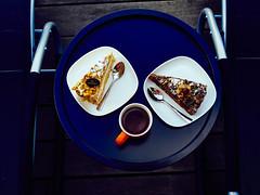Cake and tea (Sergey Galyonkin) Tags: cake tea black chocolate mandel nut