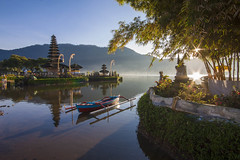 Twin Flares (Pandu Adnyana Photography Tour) Tags: sunrise bratan lake beratan bedugul temple hindu bali indonesia baliphotographytour baliphotographyguide balitravelphotography balilandscapephotography travel guide tour
