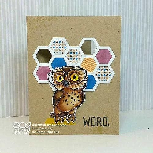 Nerd Bird is the Word. #SomeOddGirl #digitalstamps #cardmaking