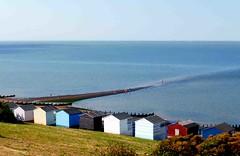 Beach huts on the Thames Estuary (cure di marmo) Tags: beachhuts beach sea sunny colourful