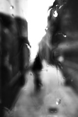 blur the masquerade2 (matthewheptinstall) Tags: wakefield westyorkshire impressionism street uk city raindroops obscured shadows shapes figure distorted citylife wetglass throughglass morning