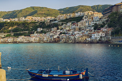 Scilla and blue boat (Francesco Grisolia) Tags: scilla calabria italia italy suditalia scillaandblueboat boat boats blue sea mare sky cielo spiaggia 2016 aprile april travel nikon beautiful photo foto flickr nikond7100 d7100 2470mm lens paese city paesaggio panorama landscape