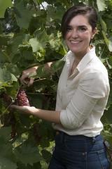 Amaya #grapes #wine (NetAgra) Tags: grapes winegrapes wisconsin outdoors plants wine fruit harvest woman female environmentalportrait portrait