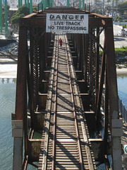 Santa Cruz, CA (KAGoldberg) Tags: california ca bridge santacruz danger train pedestrians