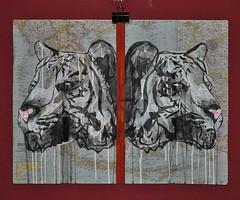street urban art face glitter graffiti asia map tiger drip vandalism idiom symmertry