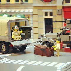 Loading up! (GI Brick) Tags: world city brick square war track lego squareformat half rise citizen deuce gi brickarms m1919 brickmania iphoneography instagramapp uploaded:by=instagram