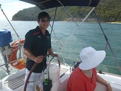 P1000256 (drayy) Tags: swimming swim boat jellyfish sailing yacht sail charter jeanneau pittwater hawkesbury backflip yeomansbay
