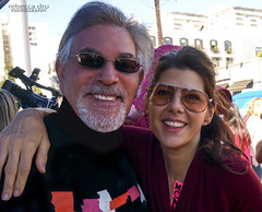 Retired LA PHIL Violist Jerry Epstein and Actress Marisa Tomei Celebrate V-Day in West Hollywood  One Billion Rising... (DRUified) Tags: vday vdayweho westhollywood onebillionrising flashmob dance rebeccadruphotography stopviolenceagainstwomen jerryepstein laphil marisatomei getolympus olympuscamera iwanttobeanolympusvisionary olympusomd olympusem1 olympusem5