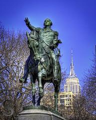 Statue George Washington on Horse Union Square--2 (Singing With Light) Tags: city nyc ny statue photography pentax manhattan february k5 2013 singingwithlight presidentsdaygeorgewashingtonempirestatebuilding2013februaryk5nynycsingingwithlightcitymanhattanpentaxphotography