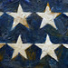 Jasper Johns, Flag, detail with 8 stars