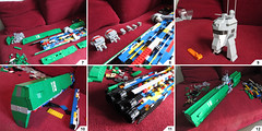 At the shipyards 2 (Red Spacecat) Tags: lego space wip destroyer spaceship moc microspace usssaratoga redspacecat