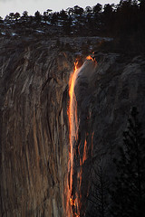 Horsetail's Last Light (Jason Branz) Tags: winter snow lava yosemite yosemitevalley horsetailfalls firefalls