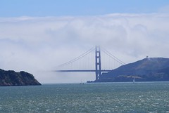 Golden Gate Bridge (AndersHolvickThomas) Tags: california bridge usa water fog america golden nikon gate san francisco telephoto d80