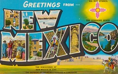 Greetings From New Mexico (The Pie Shops Collection) Tags: from newmexico vintage postcard scan greetings largeletter