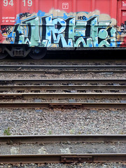IREE (QsySue) Tags: railroad digital train lumix graffiti tag traintracks panasonic traincar pointandshoot digitalcamera railroadtracks railroadcar hod iree digitalpointandshoot panasoniclumixdmczs8