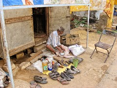 The shoe repair man at the railroad side market (ShambLady, pls read profile page...) Tags: life street india man men june juni work shoe shoes labor glue bangalore streetlife zapatos professional repair het labour karnataka job schuhe slippers schoenen schoen uit scarpe shuh chaussures leven 2010 schuh primitive kasut zapato straat sandalen baan whitefield chaussure  hardship  brindavan ayakkab ambacht chappal  ambachtelijk schoenmaker lijm chapal  bengaluru giy straatleven  profesion sepatu  primitief kadugodi    gegrepen     raben schoenenreparatie