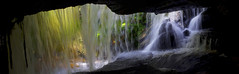 Veil of Colour (edwinemmerick) Tags: blue panorama mountains colour nature water creek photoshop landscape waterfall nikon stream australia bluemountains nsw slowshutter newsouthwales cave hazelbrook edwin d60 cs3 emmerick photoshopcs3 edwinemmerick veilofcolour