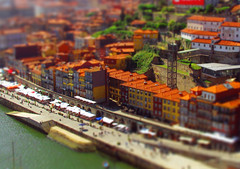 Oporto Waterfront (Daniel Bettencourt) Tags: city colors rio arquitetura architecture buildings river miniature waterfront porto douro oporto ribeira miniatura edifcios tiltshift ribeirinha