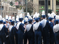 Marching Band (shaire productions) Tags: sf sanfrancisco street blue urban music asian japanese photo uniform image navy chinese culture chinesenewyear parade event photograph gathering annual marchingband lunarnewyear imagery chinesenewyearparade sfchinesenewyearparade sanfranciscochinesenewyearparade