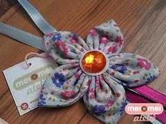 Flor de cinco pontas (Mei Mei Ateliê) Tags: aniversario design handmade flor artesanato fuxico presente mamae tecido chaveiro lembrancinha customizado meimeiatelie