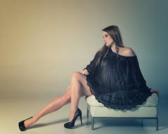 Seated Portrait (urbiefoto) Tags: portrait color fashion studio model highcontrast editorial concept maryceleste nikond800 union206