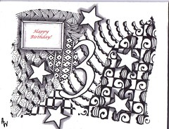 Zentangled Birthday Card (amw24) Tags: birthday card zentangle