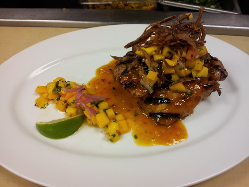 Sweet & Spicy Mango Glazed Chicken