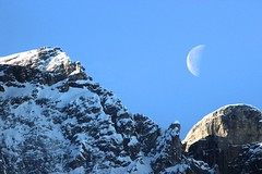 moon on the dolomites (giancarlo.guadagnini) Tags: