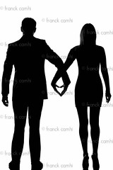 one lovers couple man and woman walking hand in hand (Franck Camhi) Tags: 2 two people woman white man male love girl silhouette loving female standing cutout person one 1 back holding hands couple heart affection fulllength couples valentine romance lovers whitebackground desire flirting dating passion romantic holdinghands backside studioshot date rearview seduction shape adults isolated tenderness handinhand caucasian