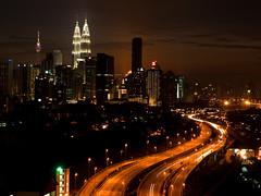 KL cityscape (munira_zen) Tags: city sunset lights cityscape malaysia kualalumpur mala