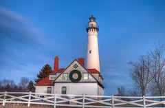 Blue Hour at Wind Point Lighthouse (Explored) (Nguyen61Photography) Tags: lighthouse canon bluehour racine windpoint nguyenphotos