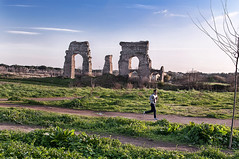 Run in history ! (Adriano Rossi) Tags: sky panorama parco roma landscape nikon cielo jogging degli corsa rovine archeologia acquedotti archeologic blinkagain photographyforrecreation