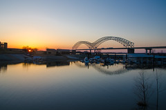 Memphis at Dusk (Explored) (topmedic) Tags: bridge de memphis soto hernando