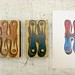 Chromatic H wood type blocks and print