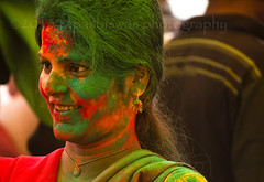 Colors of Spring (Tapas Biswas) Tags: life morning travel portrait people woman india color colour girl face festival female festive outdoors happy nikon women day image artistic candid indian unity religion culture streetphotography vivid streetlife portraiture hindu emotions holi bengal bengali artisticphotography westbengal candidphotography realpeople d90 indianfestival indianculture hindurituals santiniketan nikond90 indianfair nikod90 nikond9o basantautsav holi2013 basantautsavatsantiniketan