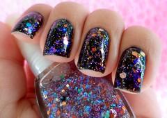 4. Faça Você Mesmo(a) - Desafio Glitterinado (Antarinha) Tags: glitter preto indie mesmo unhas você unha esmaltes esmalte desafio faça andrómeda façavocêmesmo flocado desafiogliterinado gliterinado
