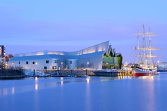 Riverside Museum (steviesung) Tags: blue building architecture modern river scotland clyde long exposure riverside glasgow contemporary scottish architect hour govan zaha hadid clydeside