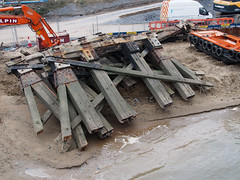 New Loughor railway bridge 1st April 2013 (7) (Gareth Lovering) Tags: bridge water swansea wales night river landscape group railway trains olympus llanelli user omd lovering networkrail loughor em5 oowug
