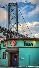 sf-bay4 bldg (Mike Filippoff) Tags: sanfrancisco clock bar restaurant bay pier day cloudy dusk baybridge embarcadero hidive