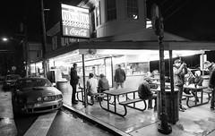 Car Club at Pat's Cheesesteak (Jonathan Heisler) Tags: bw white black ford philadelphia eos shelby cheesesteak mustang gt pats gt500 canon5dmarkiii jonathanheisler jheisler