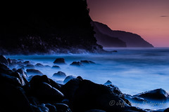 Na Pali Coast (Jeff Parry Photography) Tags: ocean longexposure sunset seascape hawaii coast rocks natural pacific kauai haena oceanscape