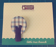 brooch & packaging (mochikaka) Tags: tree cute pin little handmade brooch fabric tiny kawaii accessories etsy package