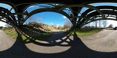 Thirlmere Aquaduct (kh1234567890) Tags: bridge panorama pentax 360 fisheye 8mm cyclepath degree k7 fallowfieldloop equirectangular samyang8mmf35 thirlmereaquaduct