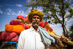 Phulera Farmer (Devesh Uba) Tags: portrait rural photojournalism farmer turban rajasthan ruralindia colorsofindia manwithmoustache colorfulindia farmeratwork photosfromindia phulera deveshuba