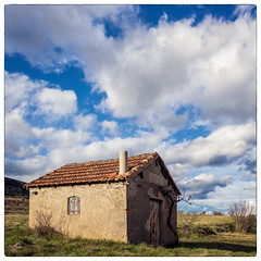 Lonely and old (jeff_006) Tags: door old roof sky cloud house abandoned window grass tile landscape cross olympus panasonic holy lonely f28 1235 em5 flickrsfinestimages1