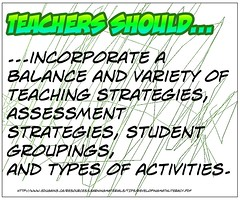 """Educational Postcard:    """"Teachers should incorporate...."""" (Ken Whytock) Tags: student teaching variety teachers activities assessment strategies groupings incorporate"""